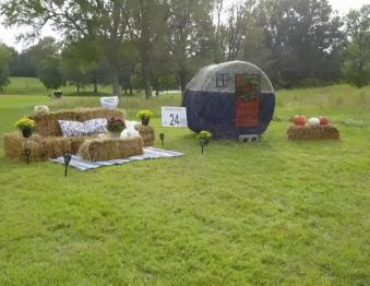 Hay Bale Trail and Autumn Acre Play Area at Mahr Park Photo